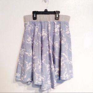 NWT Free People Floral Print Circle Skirt